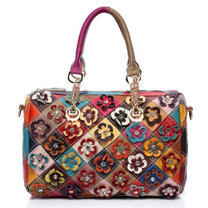 Fashion Women Handbags Genuine Leather Totes Bags Mosaic Braccialini With Fashio
