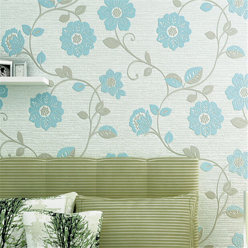 beibehang 3D Wallpaper roll Flowers Home Decorative Floral Wallpapers Eco Non-woven Mural Papel de Parede Elegant Wall Paper beibehang roll papel mural modern luxury pattern 3d wall paper roll mural wallpaper for living room non woven papel de parede