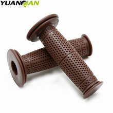 Motorcycle 7/8'' 22mm Retro Rubber Handlebar Hand Grip For Honda CBR954RR CBR600RR CBR900RR CBR 600 F2,F3,F4,F4i CBR250R 7 8 22mm motorcycle handlebar sport bike motorcycle rubber gel hand grips for honda cbr 600 f2 f3 f4 f4i 1991 1992 2006 2007