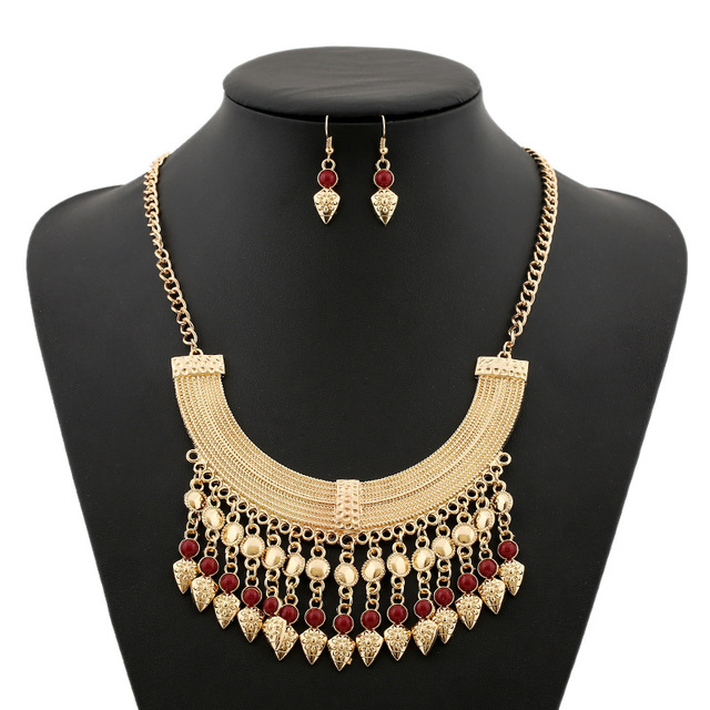 Native Americans Necklace and Earrings set Symbol of Protection