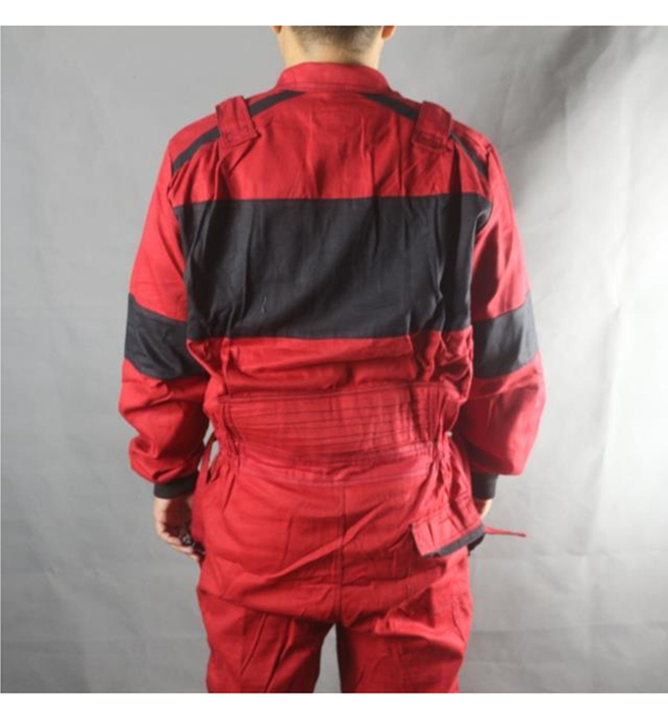 Work Coveralls Welding Fireproof Work Clothing Long Sleeve Overalls For Worker Repairman Machine Auto Repair Factory Uniforms (5)