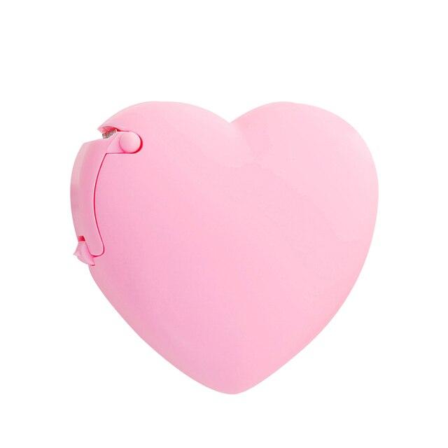 Idyandyans Portable Lovely Doughnut//Heart Shape Tape Dispensers Cartoon Colorful Roll Tape Organizer