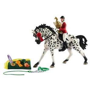 Image 5 - PVC Simulation paard animal Model Horses 5inch Denmark Knabstrupper Mare toy Figure farm animals toys Fairy Garden Decoration