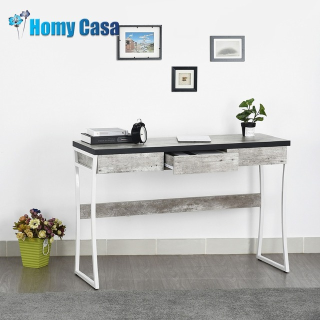 Homy Casa Computer Table Laptop Stand Coffee Office Desk Console For Living Room