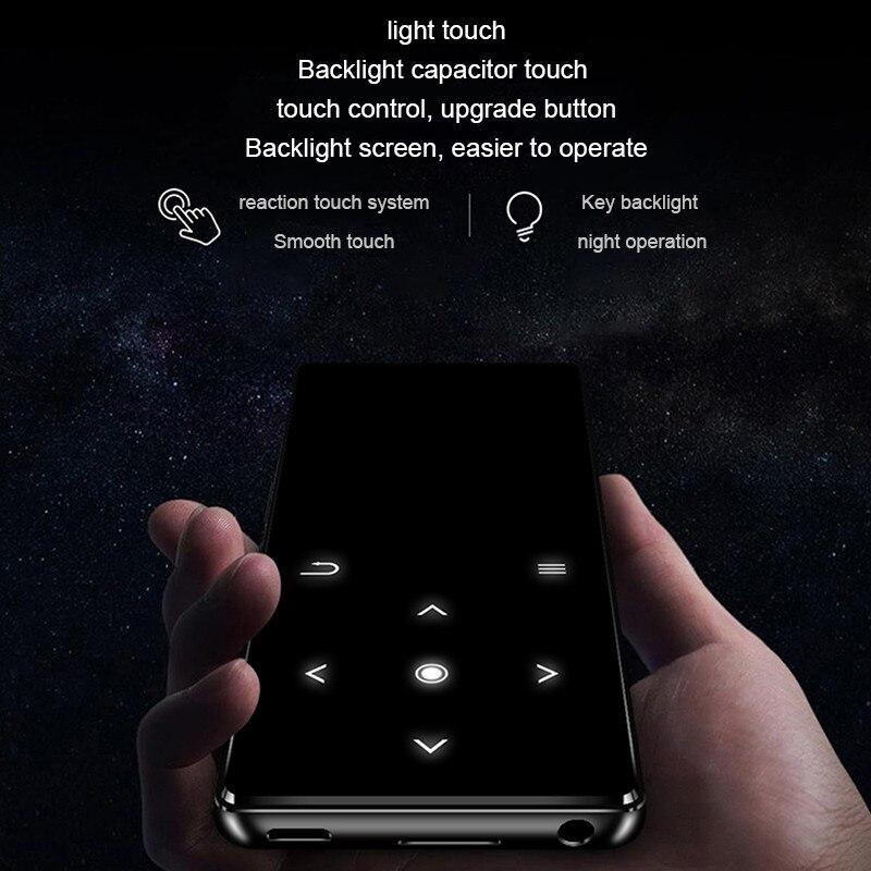 K11 2.4 pouces écran tactile HIFI Bluetooth Mp3 lecteur de musique 8 GB sans perte Mini lecteur Audio Portable FM Radio Ebook enregistreur