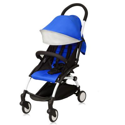 Carrinho de bebê com apoio de braço leve dobramento de quatro rodas carrinho de bebê pode se sentar e deitar
