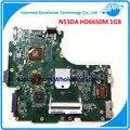 NEW! N53D N53DA материнская плата Для Asus Портативный Ноутбук HD6650M 1 ГБ Полностью Протестированы и Бесплатная Доставка