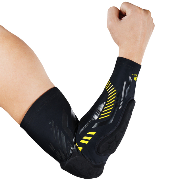 Kuangmi 1 pc Gym Sport Basketball Elbow Protector Shooting Anti-collision Arm Sleeve Warmer Breathable Elbow Pad Support Safety