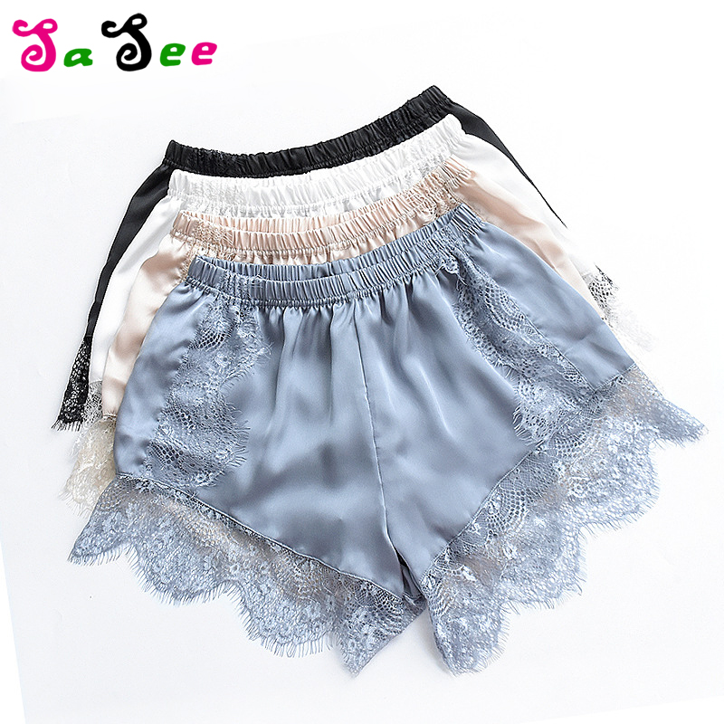 New Sexy Fashion Women Summer   Shorts   Fashion Lace Elastic Casual   Shorts   Mid Waist Lace   Short   Pants Solid Autumn Femme Hot Sale
