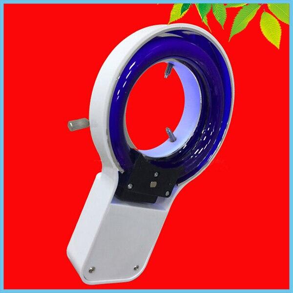 8W 220V UV Fluorescent Ring Light Source Stereo Microscope Purple Color Fluorescent Ring Lamp