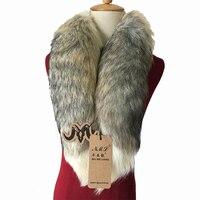 Real fur collar Fashion Winter Warm Fur Fox Arctic FOX TAIL 100% Real Fox Fur Scarf Collar Men&Women Long 90cm