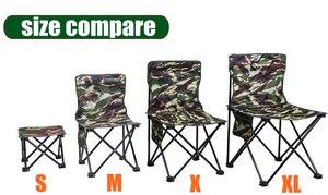 Image 5 - Ultra Hafif Kamp Yürüyüş katlanır balıkçı sandalyesi Açık Kamuflaj Taşınabilir Eğlence Piknik Plaj Katlanabilir Sandalye Koltuk Tabure