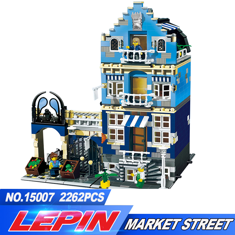 DHL Lepin 15007 1275Pcs Factory City Street European Market Model Building Block Set Bricks Kits DIY Compatible legoed 10190 цена