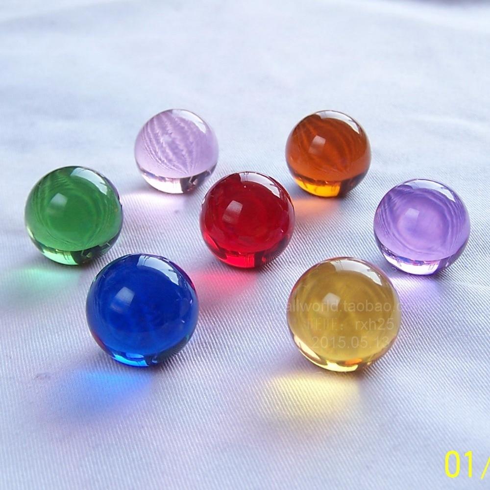 Free shipping 20pcs lot 20mm Mini crystal ball diameter 2cm process decoration Crystal glass ball marbles