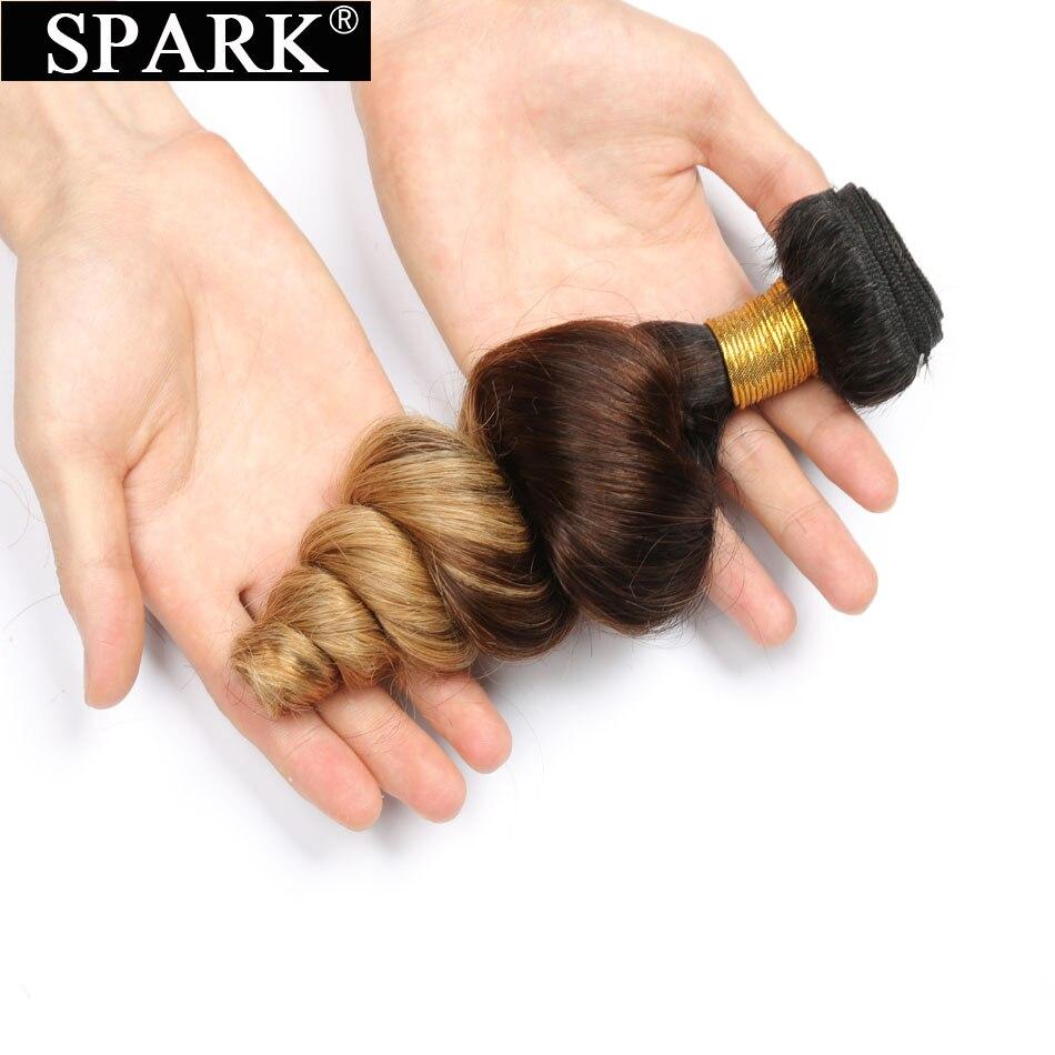 Spark Ombre Brazilian Loose Wave 1 Piece 100% Remy Human Hair Extensions Ombre Blond Hair T1B/4/27 Weave Bundles Colors