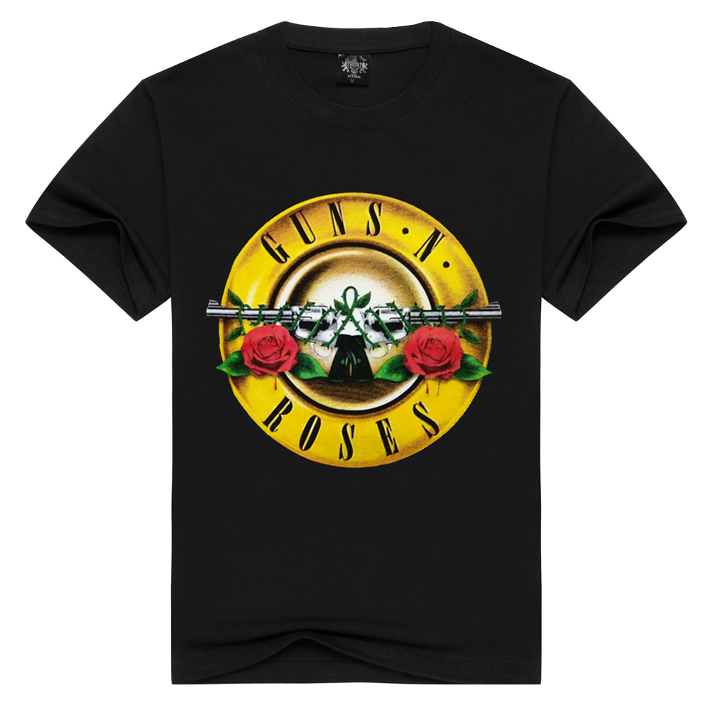 Men/Women Guns N' Roses   t     shirt   Fashion guns n roses Tshirts Summer Tops Tees   T  -  shirt   Men loose   t  -  shirts   Plus Size