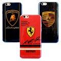 Отлично Синий Свет Случаи Телефона Для iPhone 5 5S 6 6 S 7 7 Плюс Супер Спортивный Автомобиль Lamborghini Ferrari Porsche-070104