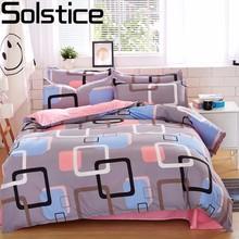 Solstice Home Textile Autumn Dark-color Flower Series Bed Linens 4pcs Bedding Sets Bed Set Duvet Cover Bed Sheet Mans Cover Set cheap 1 0m (3 3 feet) 1 2m (4 feet) 1 8m (6 feet) 1 35m (4 5 feet) 1 5m (5 feet) 2 0m (6 6 feet) None 4 pcs Polyester Cotton