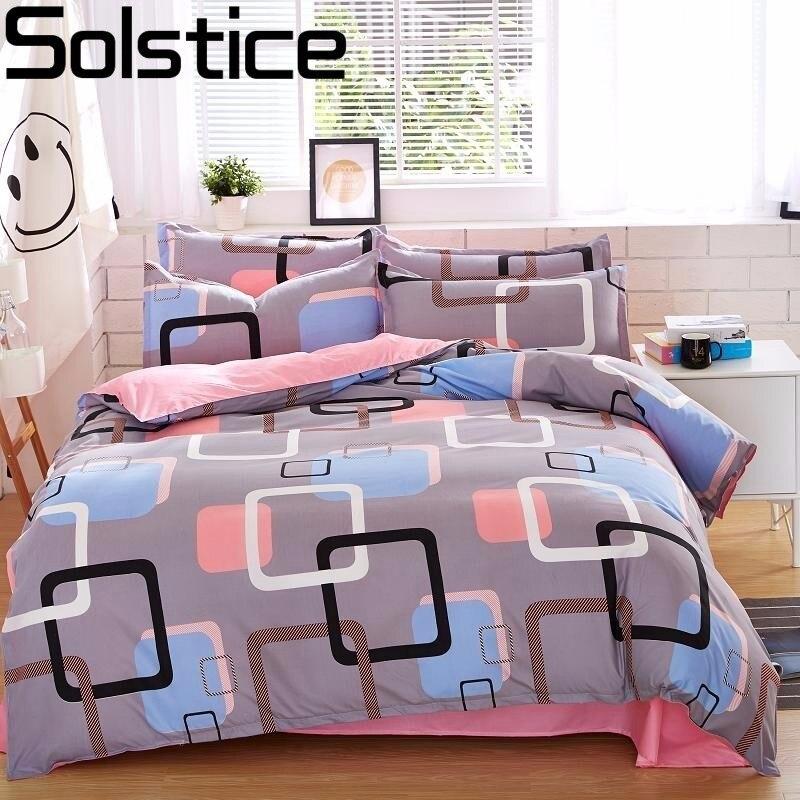 Solstice Home Textile Autumn Dark-color Flower Series Bed Linens 4pcs Bedding Sets Bed Set Duvet Cover Bed Sheet Mans Cover Set
