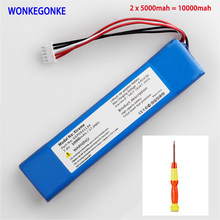 Wonkegonke 10000mah 37.0wh bateria para jbl xtreme1 extreme xtreme 1 gsp0931134 batterie número de rastreamento com ferramentas