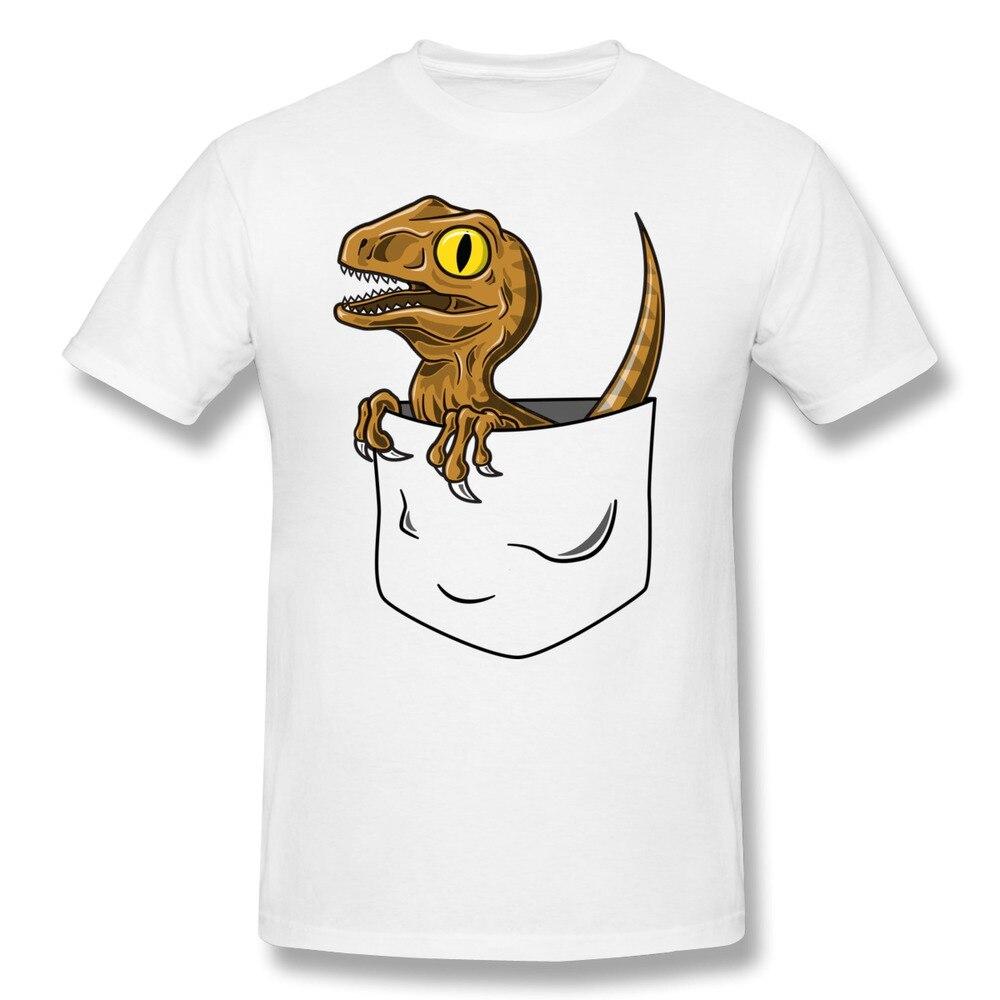 O Neck Men T Shirt Pocket Raptor Love Logo T Shirts Man In