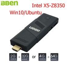 Bben Мини-ПК Окна 10 Ubuntu Intel X5 Z8350 quad-core 2 ГБ 4 ГБ Оперативная память 32 г 64 г Встроенная память HDMI WIFI USB3.0 USB2.0 stick ПК мини-компьютер