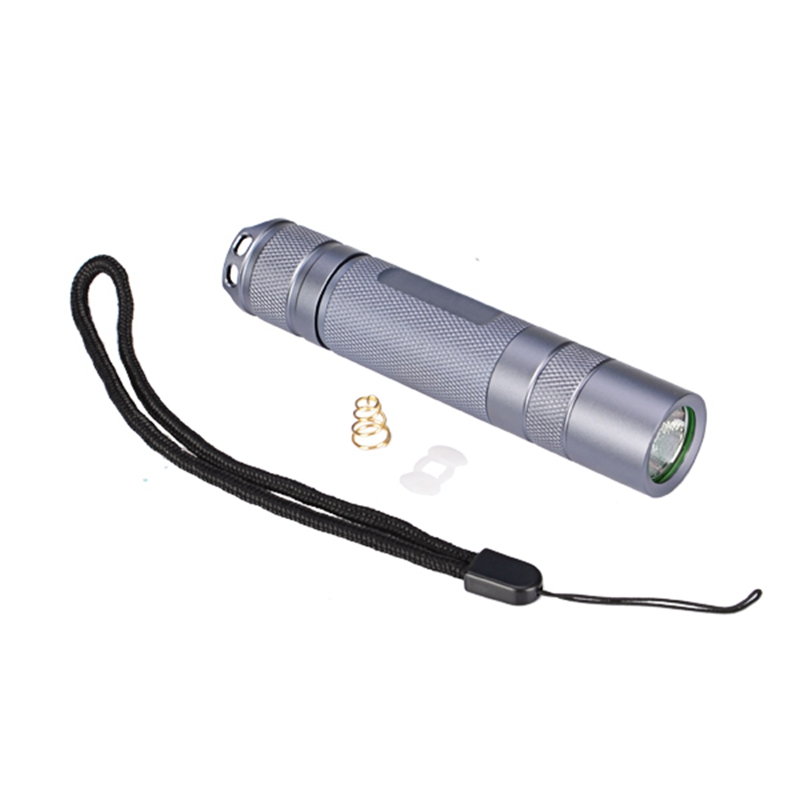 For Convoy Aluminum Alloy S2+ Gray Flashlight Host DIY LED Flashlight Lantern Shell Host