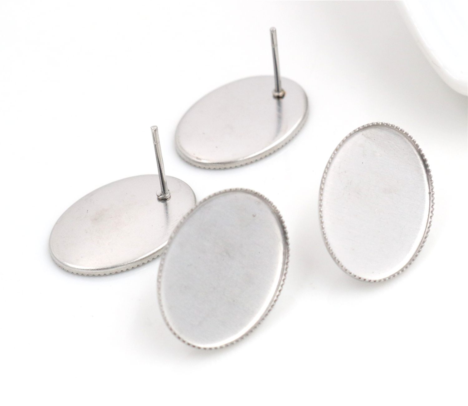 ( No Fade ) 13x18mm 20pcs/Lot 316 Stainless Steel Oval Earring Studs,Earrings Blank/Base,Fit 13*18mm Oval Glass Cabochons-O3-37( No Fade ) 13x18mm 20pcs/Lot 316 Stainless Steel Oval Earring Studs,Earrings Blank/Base,Fit 13*18mm Oval Glass Cabochons-O3-37