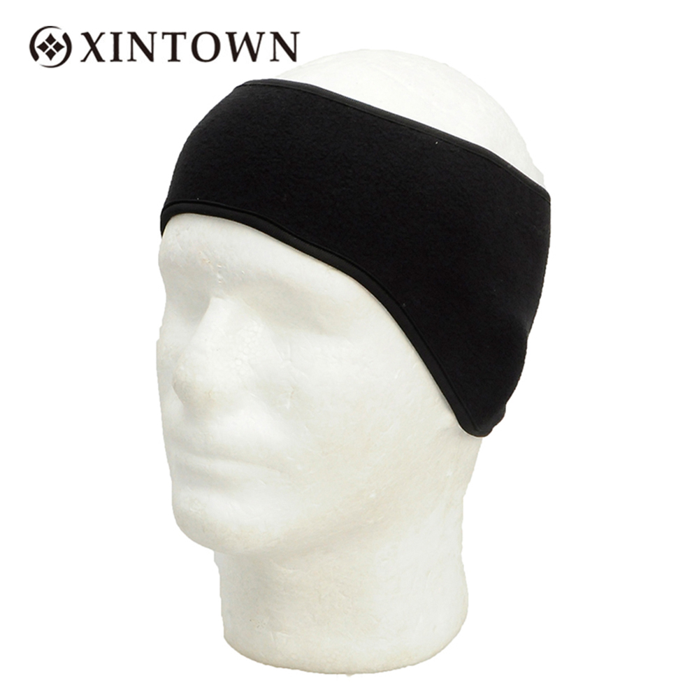 Thermal Fleece Headband Balaclava Earmuffs Protective Cap Men Warm Soft Winter Cycling Caps Hairband Hunting Camping Sport Hat