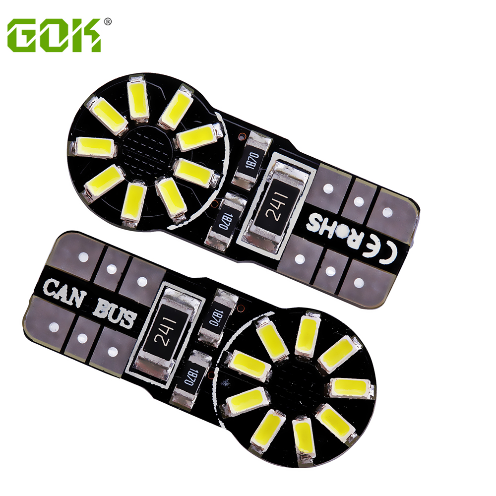 50pcs/lot T10 W5W led canbus 194 168 3014 t10 18SMD Canbus No Error Car Auto LED Bulb Indicator Light Parking Lamps White light 2pcs lot bright double no error t10 led 194 168 w5w canbus 6 smd 5050 led car interior bulbs light parking width lamps