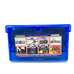 23 In 1 Popular 32 Bit Game Collection Card English Edition 2048M with Game Final Fantasy 1 2 4 5 6/Aladdin/Double Dragon, etc.