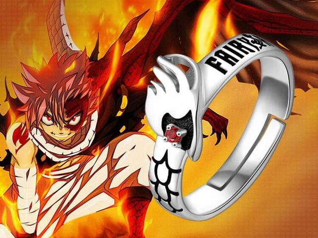 S925 silver fairy tail natsu dragneel ring cos prop daily - Image de fairy tail natsu ...