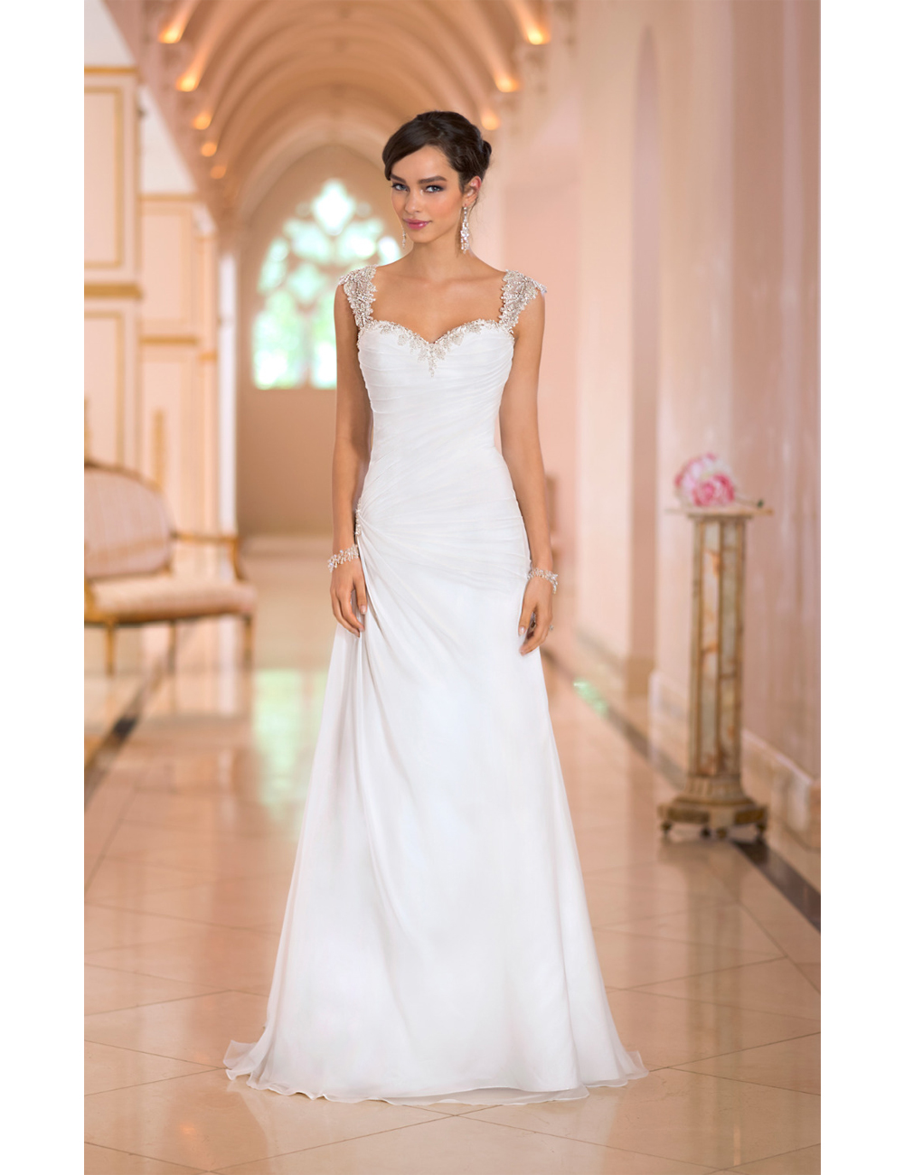 Online buy wholesale modern wedding dresses from china for Simple romantic wedding dresses