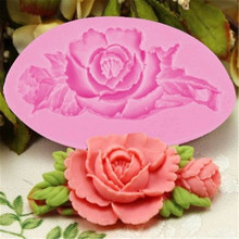 3D Rose Flower Cake Silicone Mold Fondant Decorating Chocolate Candy Molds Resin Clay Soap Mould Kitchen Baking Tools