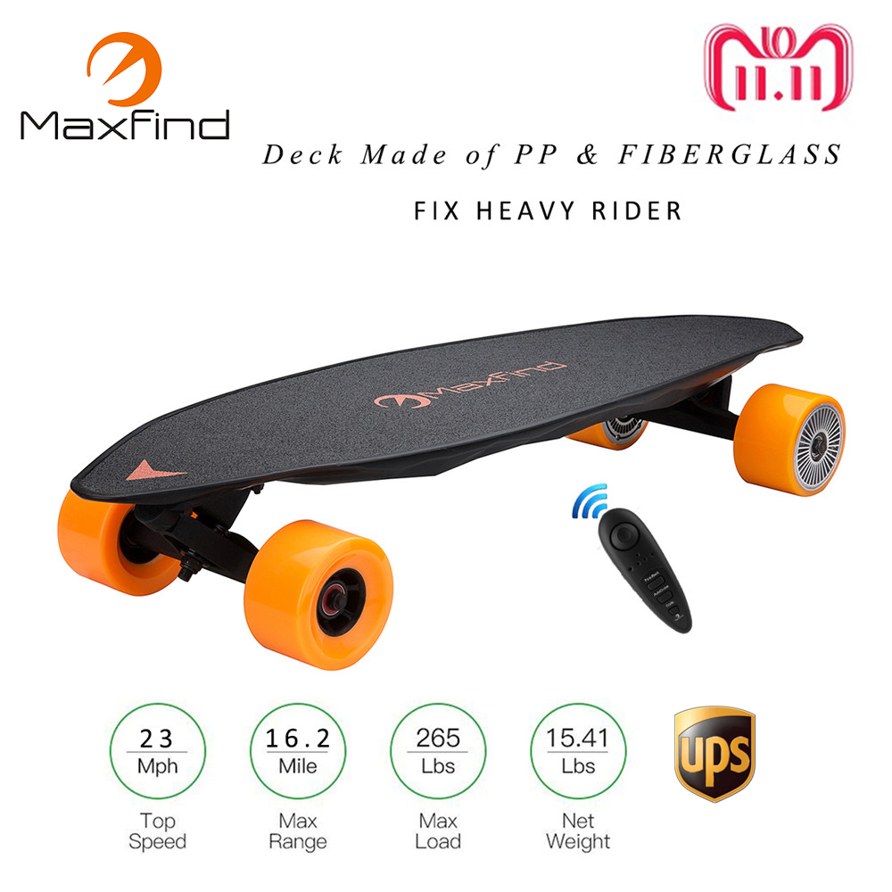 все цены на Maxfind Max2 Longboard Electric Skateboard 23MPH Four Wheel 1000W*2 Dual Motor With Wireless Remote Controller Scooter Hoverboad