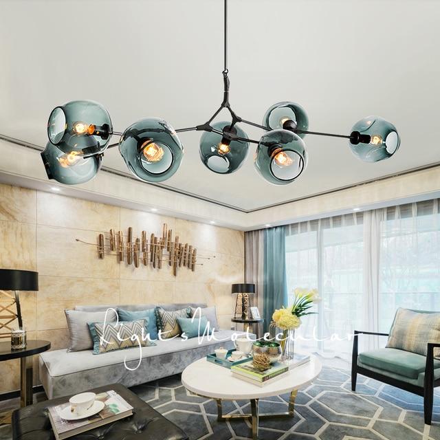 Modern Glass Pendant Light Nordic Dining Room Kitchen Designer Hanging Lamps Avize Lustre Lighting