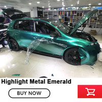 Highlight Metal car vinyl wraps emerald full wrap car vinyl wraps super gloss green vinyl Ocean Green wraps High end market