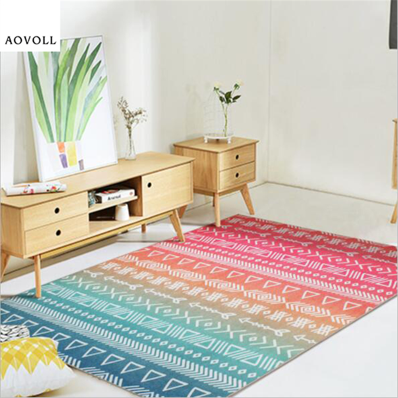 US $63.77 40% OFF|AOVOLL Colorful Nordic Style Soft Carpets For Living Room  Bedroom Kid Room Rugs Home Carpet Floor Door Mat Fashion New Area Rug-in ...