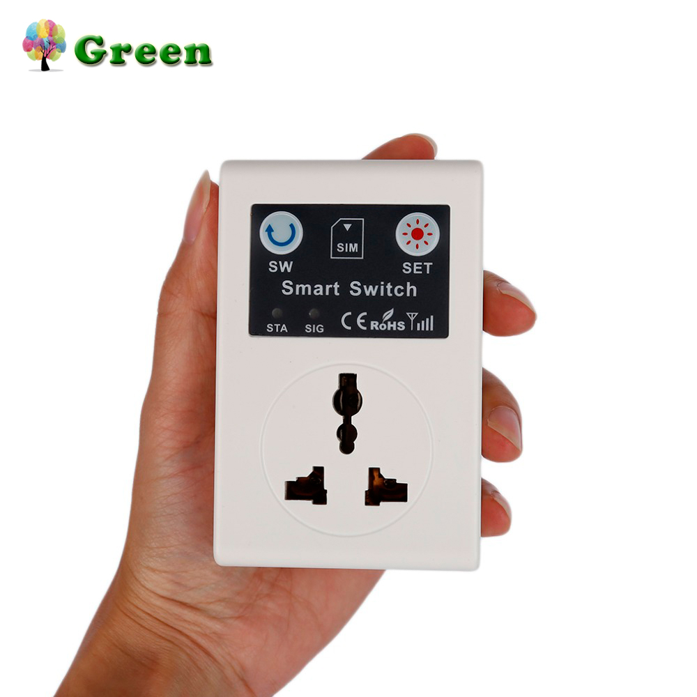 Professional 220V Phone RC Remote Wireless Control Smart Switch GSM Socket Power Plug for Home Household Appliance