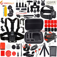 Gopro Sports Video Camera Accessories Set for Gopro Hero 5 4 3 4 Session 5 Session SJCAM SJ4000 SJ5000 SJ7000 Xiaoyi 4K M10 M20 стоимость