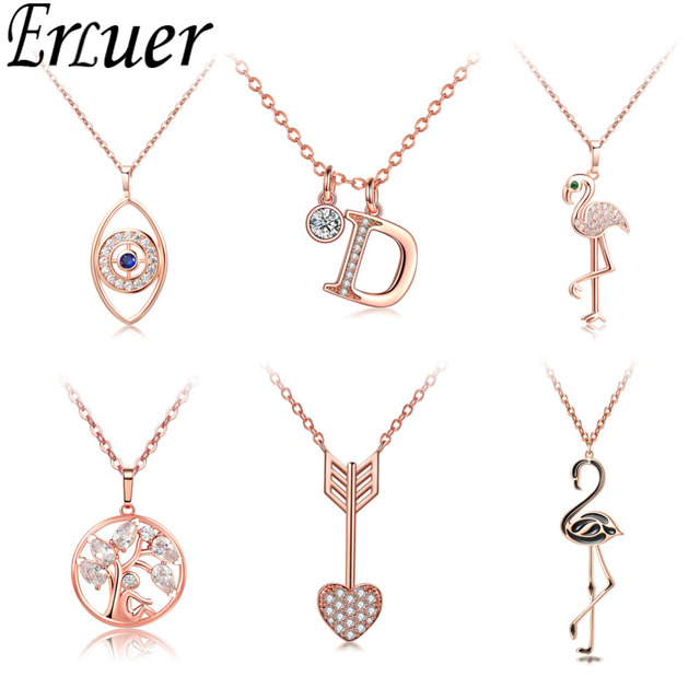 Fashion Letter Infinity Cross Heart Necklaces Pendant For Women Wedding Jewelry