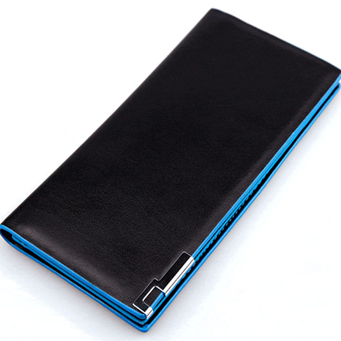 Men's Wallet Thin Clutch Long Porte Feuille Homme Leather Solid Soft Carteira Masculina Wallets Money Bag 2019 Man Pocket Purse