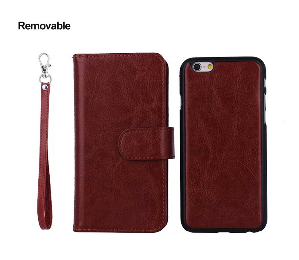 Para iPhone 6s Funda Cartera de cuero Marco de fotos 9 Ranura para - Accesorios y repuestos para celulares