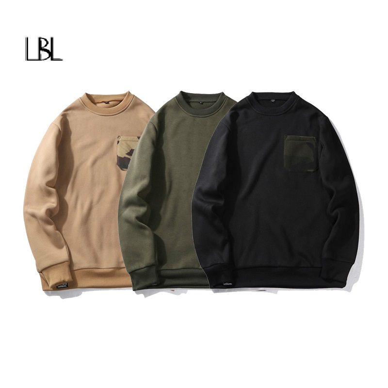 Casual Camouflage Sweatshirt Men Fashion Jogger Sportswear Hip Hop Streetwear Male 2018 Fitness Brand Clothes Plus US Size 2XL