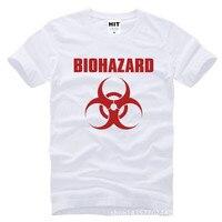 Resident Evil Biohazard Logo Printed Mens Men T Shirt Tshirt Fashion 2015 New Short Sleeve Cotton