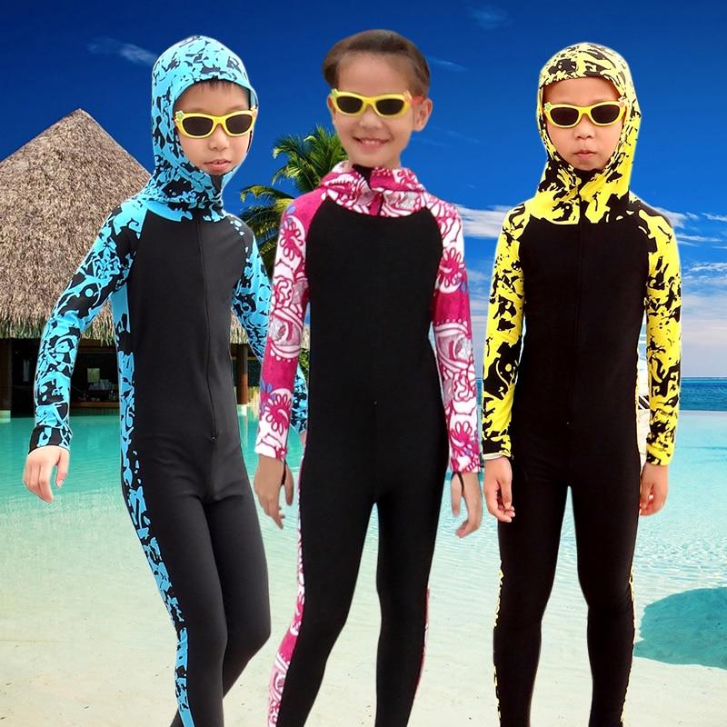 SBART Traje de neopreno para niños Traje de buceo floral con capucha - Ropa deportiva y accesorios