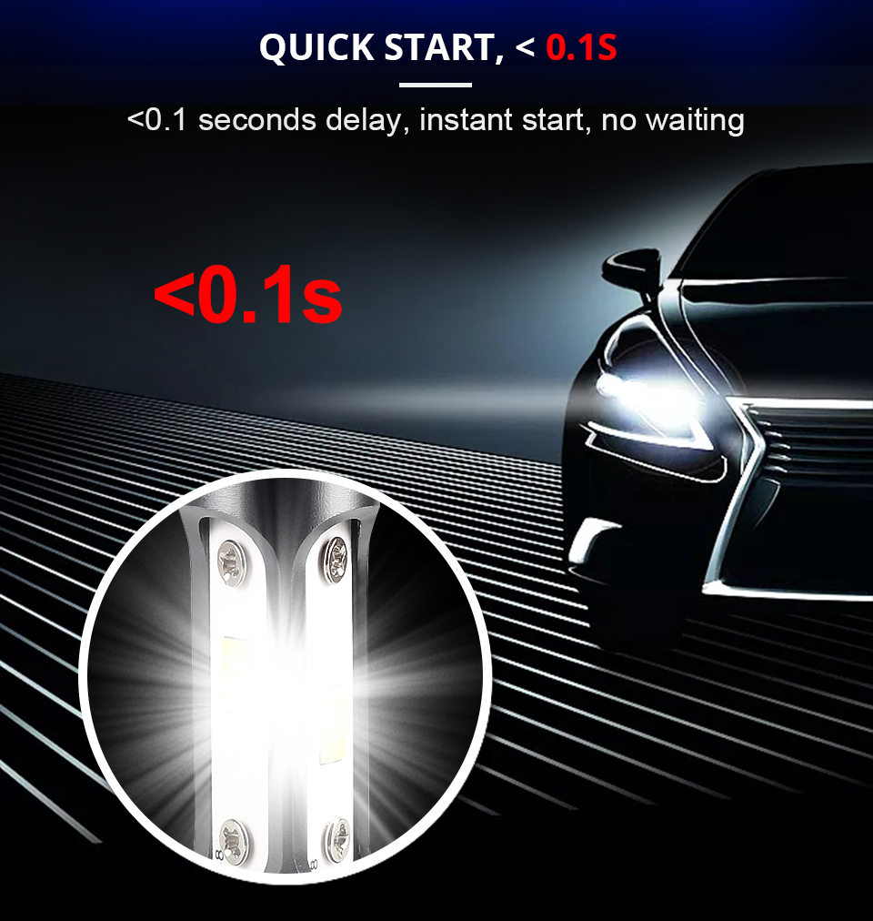 Aceersun H7 LED H4 LED H11 Car Light Canbus Headlight Bulb 12000LM canbus H8 H9 H1 HB3 9005 9006 80W 6500K 12V 24V Auto HB4 Led (6)