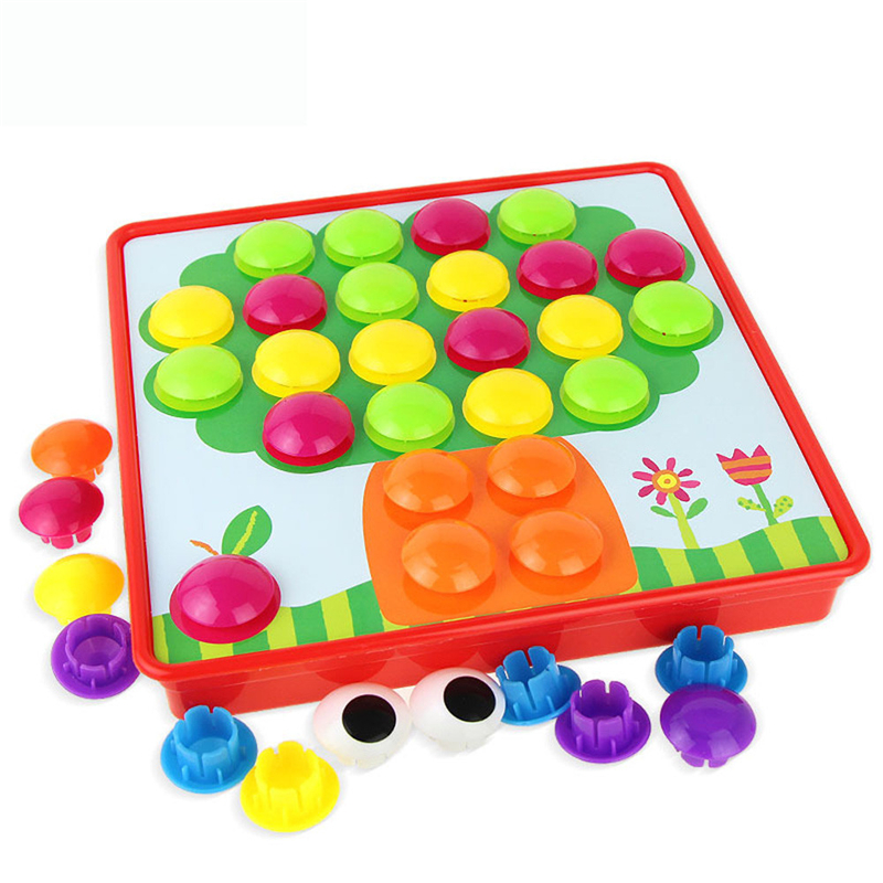 New Creative Mushroom Nail Kit Educational Toys Button Art