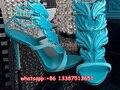 2017 Модные Женские Высокие Каблуки Leaf Сандалии Обувь Женщина Крыло Сандалии Гладиаторов Женская Обувь Пряжка Сандал Сапоги Бесплатная Доставка