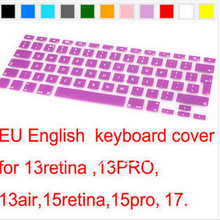 2pcs Keyboard cover Protective Film Cover 13 EU Version English For Apple MacBook Pro 13